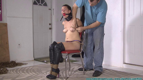 Being Tightly Bound, Hanging Upside Down, Bound with Fishing Line