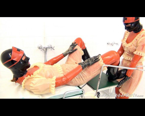Vaginal Treatment In Rubber Clinic, Mouth Strap-On Part One