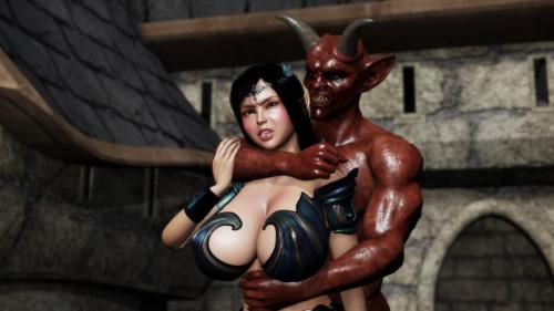 Devilish Juice Excreting Flesh Hole Princess 3D Porno