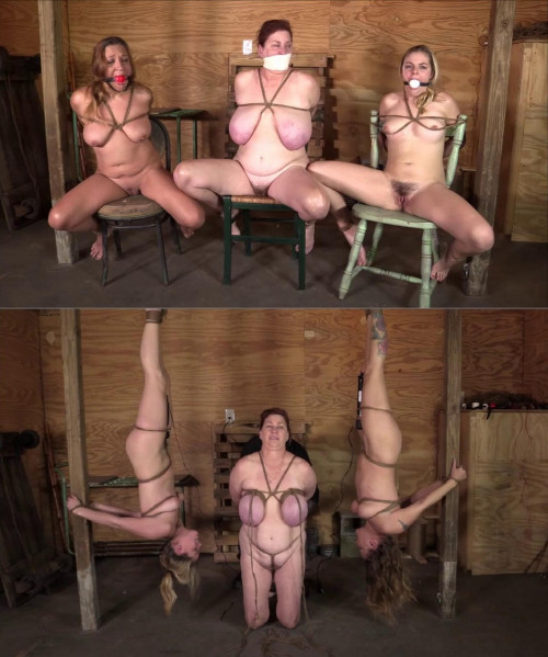 Hard bondage and torture for hot woman and for two sexy girls