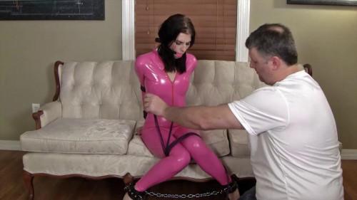 Pink latex tying