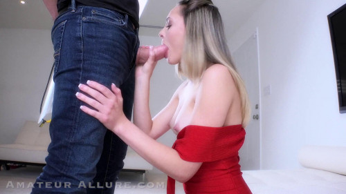 Amateur Allure Presents Aften Opal Sucking Cock, Fucking and Cum Swallowing