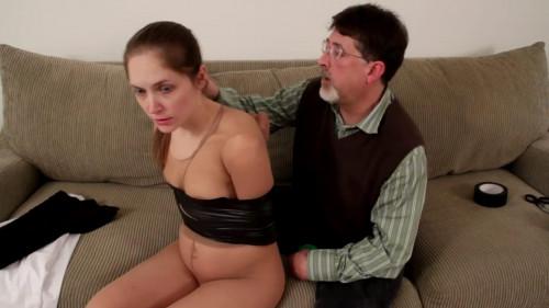 Tight bondage, mummification and hogtie for beautiful girl BDSM Latex