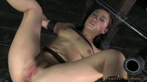 Petite Gabriella Paltrova suffers extreme deepthroating, brutal fucking for you