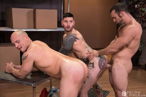 Sexual His Assment - Scene 2 - Jaxton Wheeler, John Magnum & Teddy Bryce 720p Gay BDSM