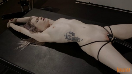 Violet October is Spread in Bondage and made to Cum (2017)