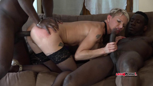 French Milf Mia Wallace like hard interracial double anal and DP Interracial Sex