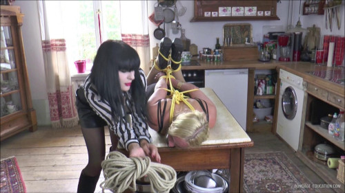 Extremelly Painful Jute Rope Bondage For Sexy Ivanna