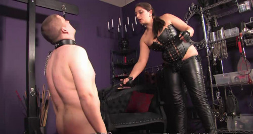 Mistress Roberta Flogs It Femdom and Strapon