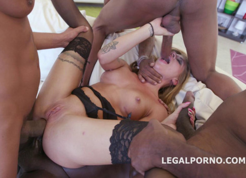 Perfect Slut Silvia Dellai Gangbanged & DPed By Many Big Black Dicks