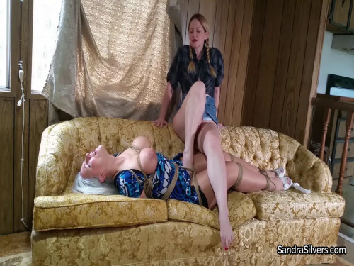 Sandra Silvers & Lisa Harlotte - Becomes Lesbian Oral Sex & Foot Slave