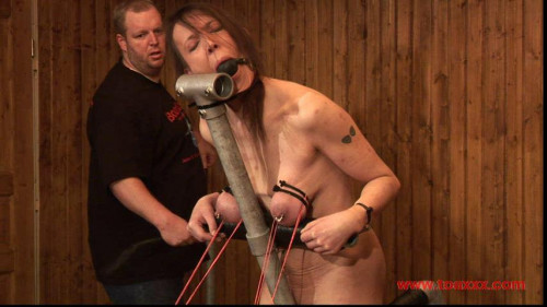 Toaxxx - (tx276) Tit Slave Eva on the Rack of Pain