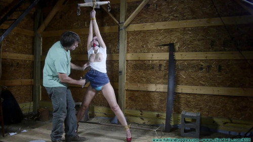 Rachel Hogtied with Twine – Part 1