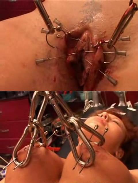 Many needles in pussy