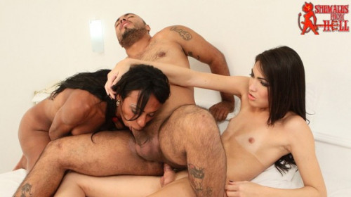 Sandy lopes &  perla lins threesome with matheus