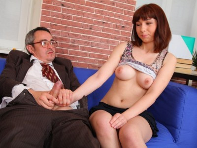Elena struggles for her grades in her teachers class and wants to fuck him for a better grade today. Old and Young