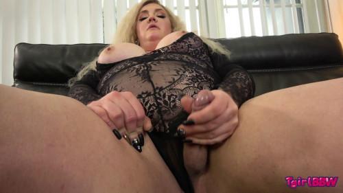 Nathalie Is So Naughty In Black! Transsexual