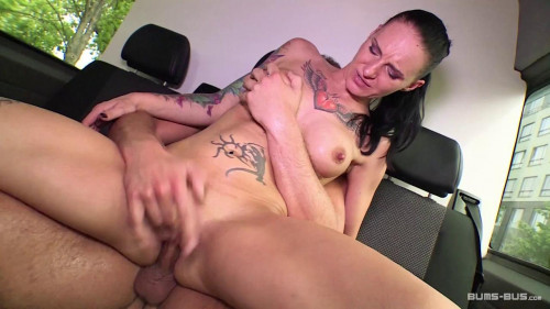 Slutty tattooed German MILF gets picked up, fucked and cummed on in the bus Amateur Porn