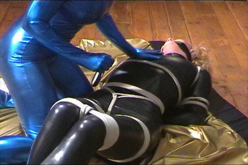 Inxesse - Kerri Bound and Gagged in Lycra Catsuit BDSM Latex