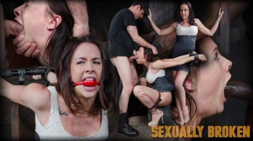 Sexy girl gets a orgasm and facefucking in tight bondage
