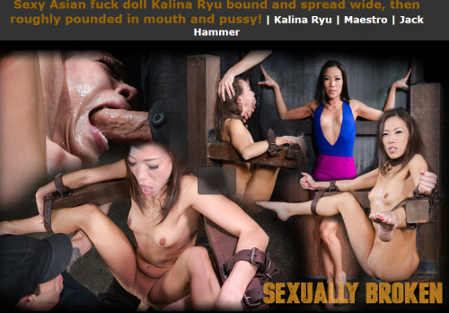 Sexuallybroken - Dec 18, 2015 - Sexy Asian fuck doll Kalina Ryu bound and spread wide BDSM