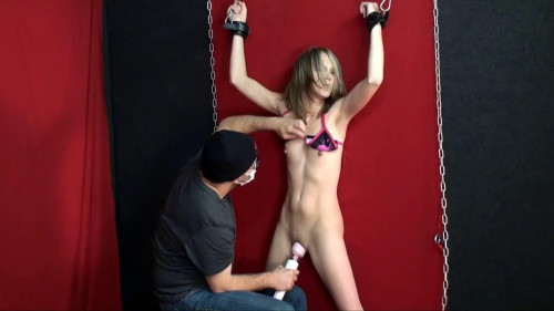 Super bondage, torture and strappado for sexy young blonde BDSM Latex