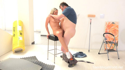 Blonde pays an older man by swallowing his sperm Old and Young