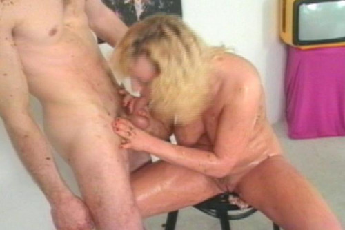 Pussy licking in the kitchen MILF Sex