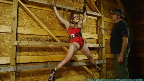 Barnyard Captive Riley Jane Spreadeagle to the Wall