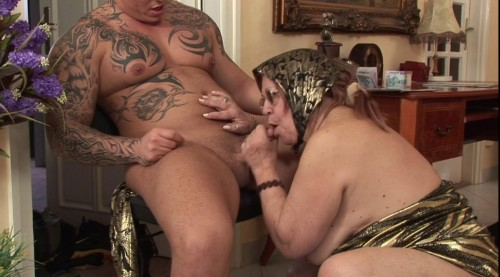 Fat grandma rides a cock like a professional