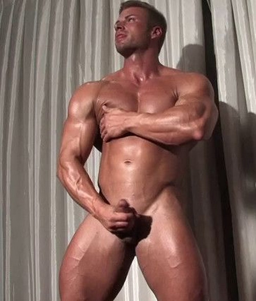 Kane Griffin - Handsome Blond Muscle Gay Solo