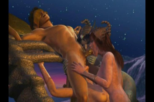 Orgy night with huge monsters