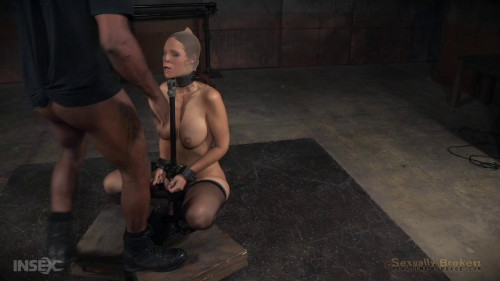 Big breasted sexy MILF Syren de Mer in relentless live action bound and throat trained by BBC! BDSM