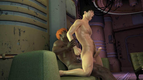 3D XXX Gay Up Side Down