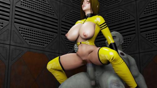 Female Crew of Space Slave Battleship Amado
