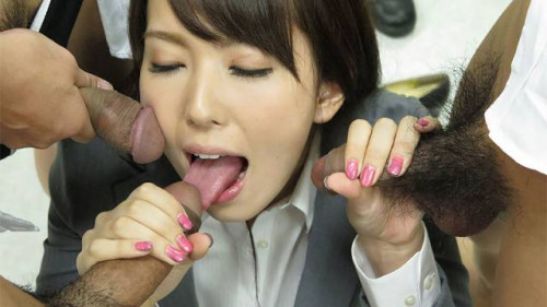 Yui hatano has to engulf the rods of her colleagues