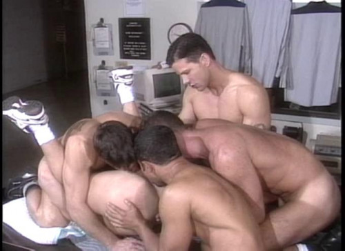 Energetic group sex Gay Movie