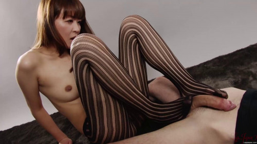 Tights Footjob