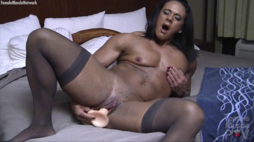 Goddess of Iron - She Says Cum All Over My Face! Will You Female Muscle