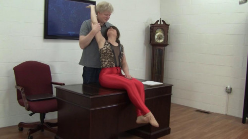Elizabeth Andrews - Promotion Celebrated With Tickling