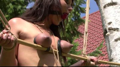Outdoor Breast Bondage for Yvette - part 2