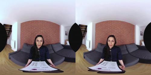 Slim girl in VR Casting 3D stereo