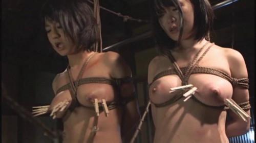 Two slave Asians BDSM