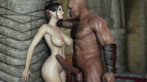 Beauty Cartton Babe Takes Gigant Dick 3D Porno