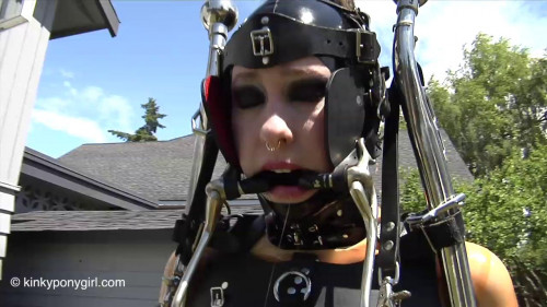 Ponygirl - Mow the Lawn - HD 720p BDSM Latex
