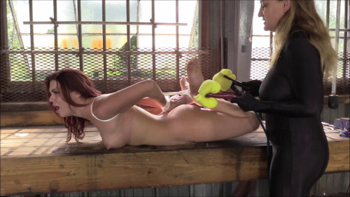 Brendas Bondage - The Interrogation Of A Spy Hogtied On The Bench In The Hot Sun