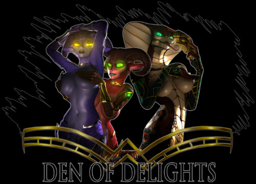 Den of Delights (Succubus, Futanari, 295 pages+animated series) Comics