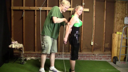 Pepper Sterling - Agonizing younger partner wing tie in latex
