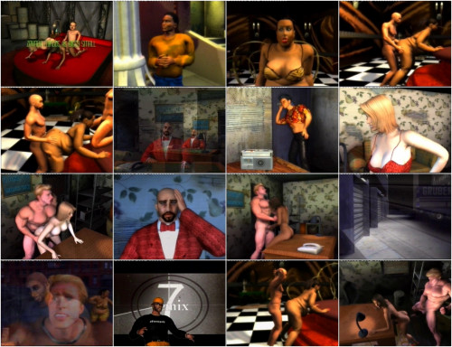 Sex in the old castle and the library 3D Porno