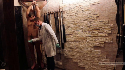 Milking of Slave Zhenya Gay BDSM